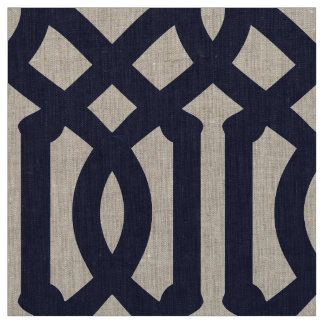 Navy Blue Trellis Large Scale Fabric