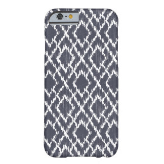 Navy Blue Tribal Print Ikat Geo Diamond Pattern Barely There iPhone 6 Case