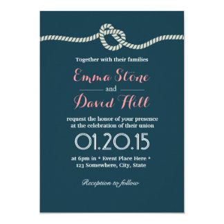 Tying The Knot Invitations Announcements Zazzle Co Uk