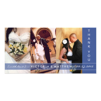 NAVY BLUE UNION | WEDDING THANK YOU CARD PHOTO CARDS