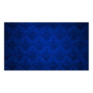 Navy blue vintage damask pattern business cards