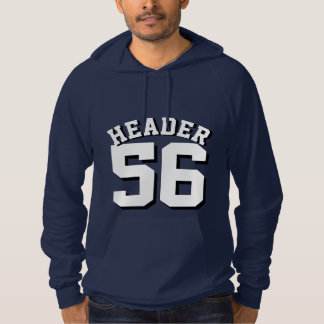 Navy Blue & White Adults | Sports Jersey Design Pullover