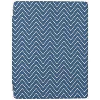 Navy Blue White Chevron Pattern 2A iPad Cover