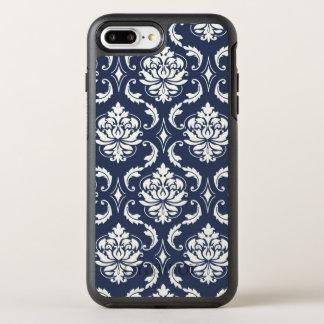 Navy Blue White Damask Pattern OtterBox Symmetry iPhone 7 Plus Case