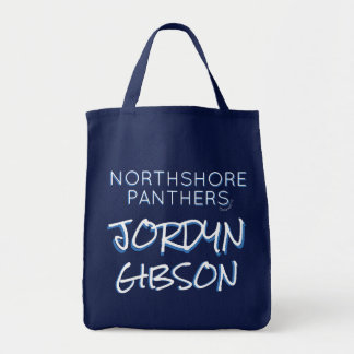 NAVY BLUE & WHITE GROCERY TOTE NORTHSHORE HIGH