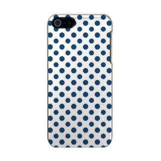 Navy Blue White Polka Dots Pattern Incipio Feather® Shine iPhone 5 Case