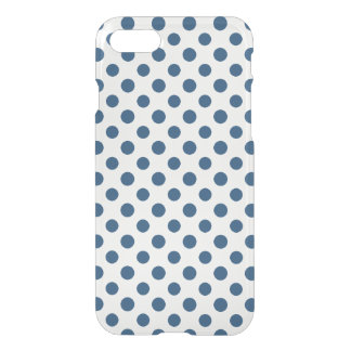 Navy Blue White Polka Dots Pattern iPhone 7 Case
