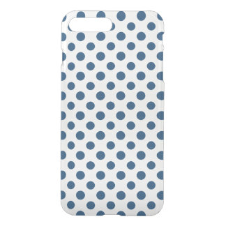 Navy Blue White Polka Dots Pattern iPhone 7 Plus Case