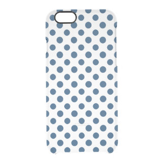Navy Blue White Polka Dots Pattern iPhone 6 Plus Case