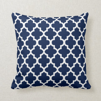 Navy Blue & White Quatrefoil Design | DIY Color Cushion