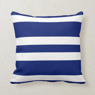 Navy Blue & White Stripe Couch Pillow Gift