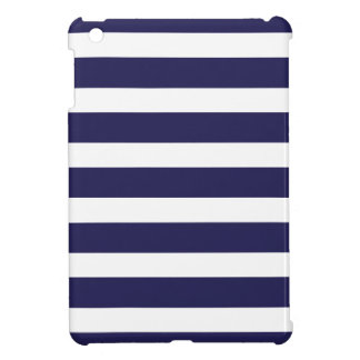 Navy Blue Wide Stripes iPad Mini Cover