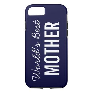 Navy Blue World's Best Mother Custom iPhone 7 Case