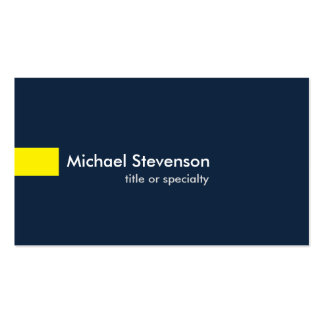 Navy Blue Yellow Modern Unique Consultant Pack Of Standard Business Cards