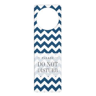 Navy Blue Zigzag Stripes Chevron Pattern Door Hanger