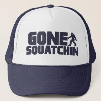 Navy Bobo GONE SQUATCHIN Hat Finding Bigfoot