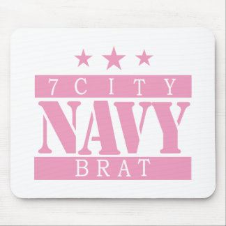 NAVY Brat - Pink Mouse Pad