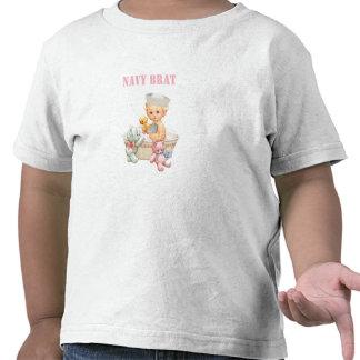 Navy Brat Toddler Girl Shirt