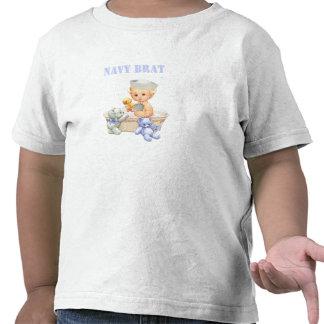 Navy Brat Toddler Shirt