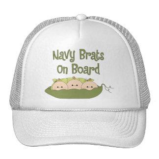 Navy Brats On Board Triplets (Caucasian) Cap
