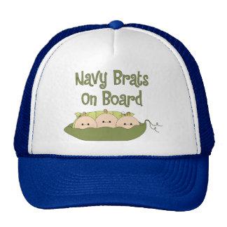 Navy Brats On Board Triplets (Caucasian) Hat
