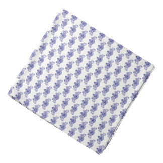 Navy British Coat of Arms on White Lapel Pocket Bandana