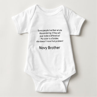 Navy Brother No Problem Sister Tee Shirt