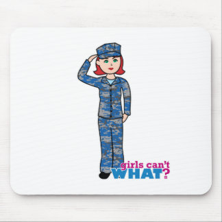 Navy Camo Light Red Mouse Pad