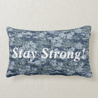 Navy Camo Stay Strong Pillow
