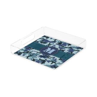 Navy camouflage acrylic tray