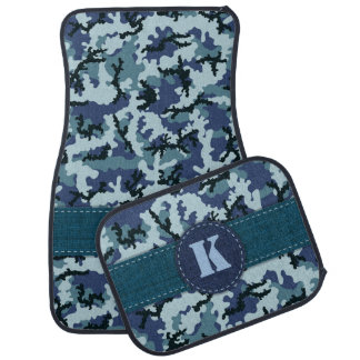 Navy camouflage car mat
