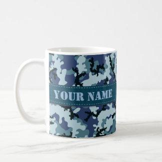 Navy camouflage coffee mug