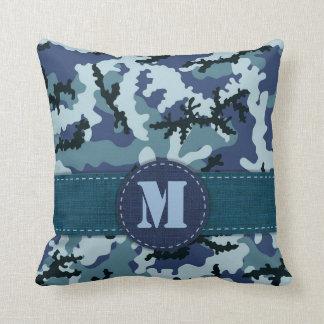 Navy camouflage cushion