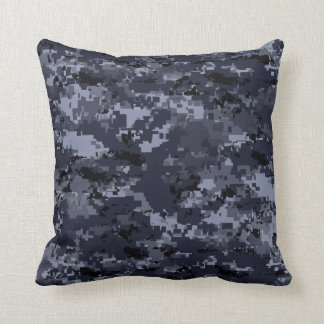 Navy Camouflage Cushion