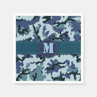 Navy camouflage disposable napkin