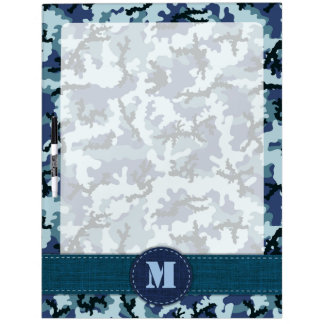 Navy camouflage dry erase board
