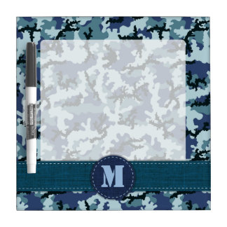 Navy camouflage dry erase whiteboards