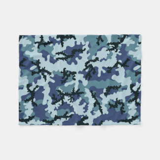 Navy camouflage fleece blanket