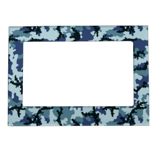 Navy camouflage magnetic picture frame