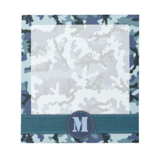 Navy camouflage notepad