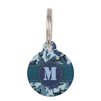 Navy camouflage pet tag