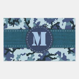 Navy camouflage rectangular sticker
