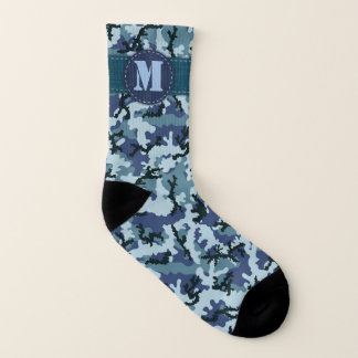 Navy camouflage socks