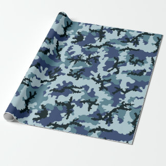 Navy camouflage wrapping paper