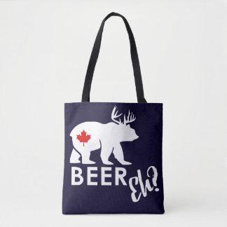 Navy Canada Beer bear tote bag