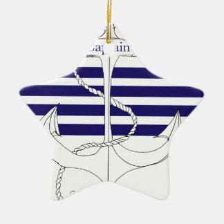 navy captain, tony fernandes ceramic star decoration