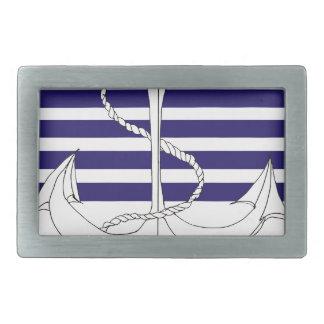 navy captain, tony fernandes rectangular belt buckle