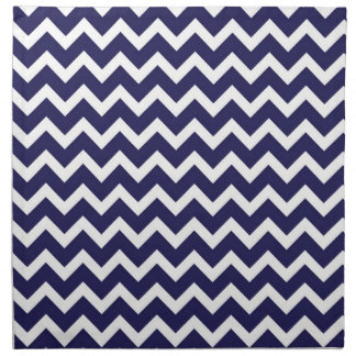 Navy Chevron Napkin