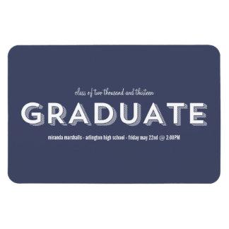 Navy Chic Graduation Magnet