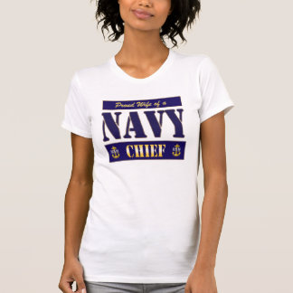 Navy Chief Wife Block Style Shirt